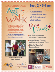 Artwalk flyer